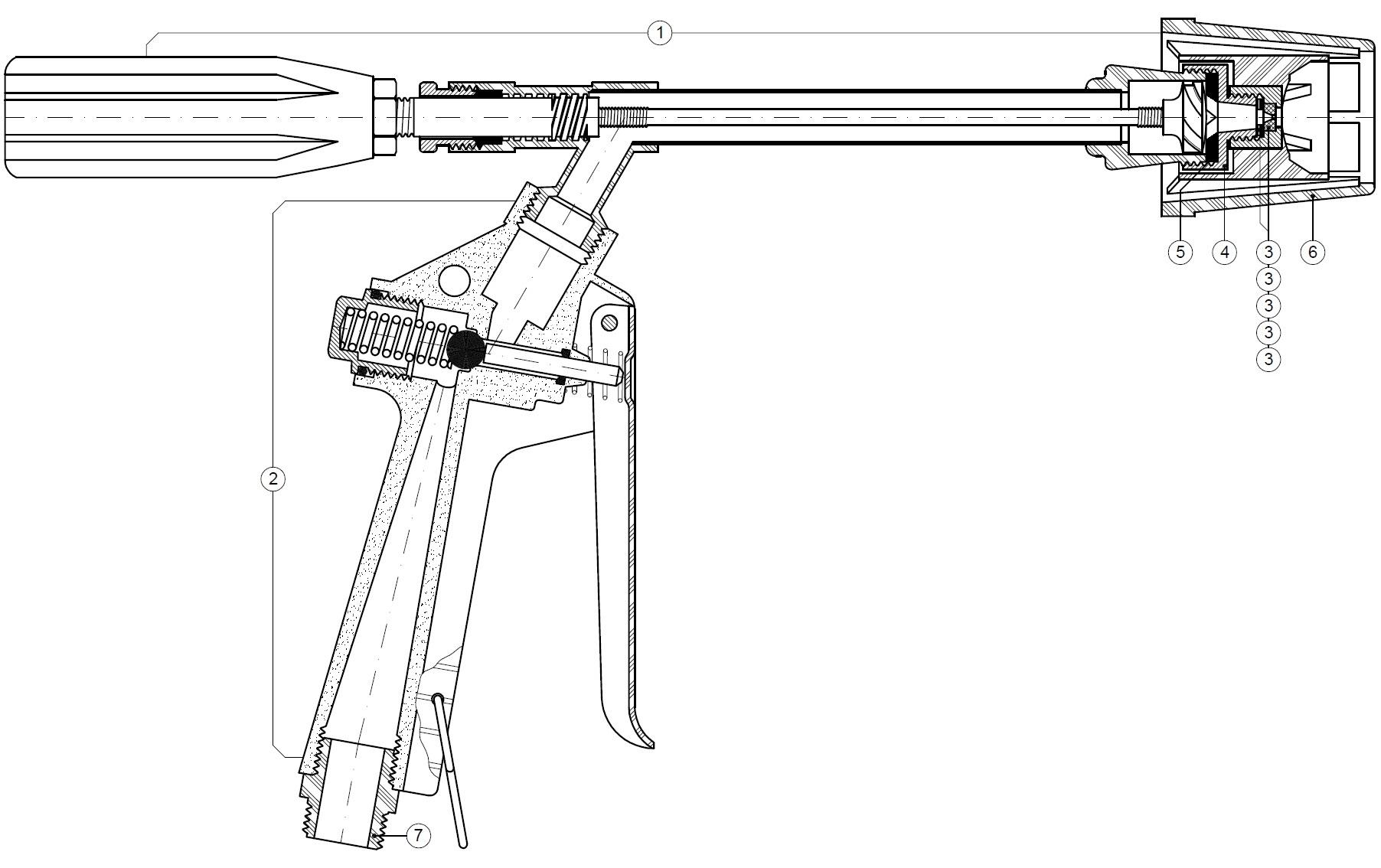 Alumax spray gun