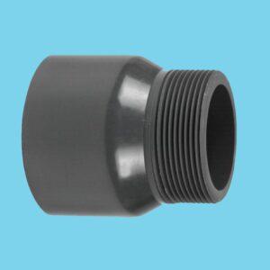 """Adaptor nipple Ø25 x 3/4"""" 16bar pvc - 030000254"""