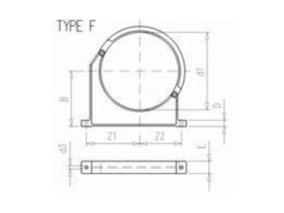 "Tube clamp 140mm + 5"" - W00002675"