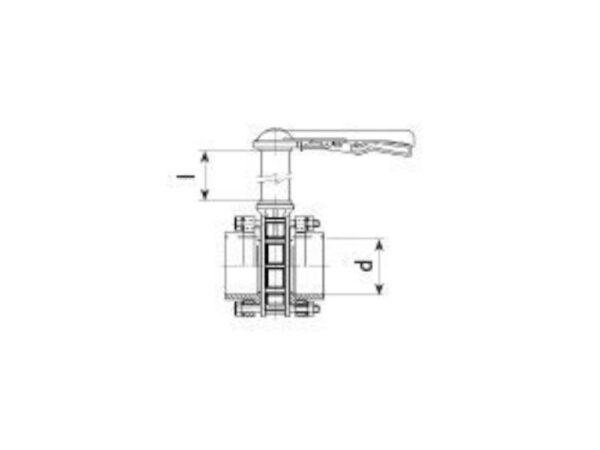 Butterfly valve dn100 + kit 110 x 110 + 1500mm - W00002919